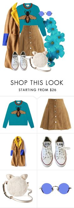 """""""Gucci Bee"""" by jessicajasr on Polyvore featuring Gucci, Chicwish, Converse, LC Lauren Conrad and Hakusan"""