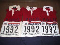 Polo Ralph Lauren 1992 Stadium Rugbys..TripleThreat!