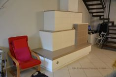 Stufa in maiolica moderna - Moderne Kachelofen - modern tile stove