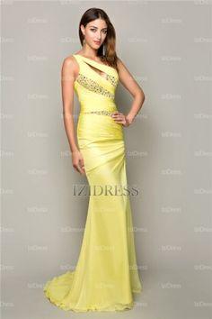 A-Line/Princess One Shoulder Chiffon Prom Dress - IZIDRESSES.com at IZIDRESSES.com