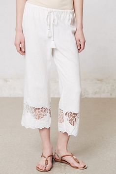 Lacework Linen Loungers #anthropologie $40
