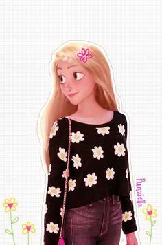 This Is What Disney Characters Would Look Like In The Modern World-- I can't decide if these are creepy or cool.