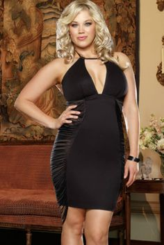 myra pleather dress with power net side panels and topstitched