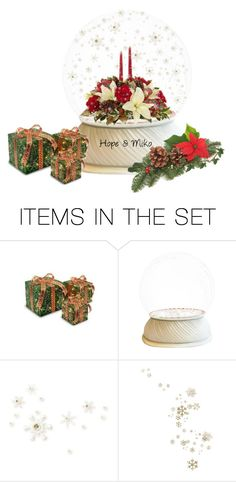 """""""Snowglobes:Christmas Flowers"""" by rboowybe ❤ liked on Polyvore featuring art"""