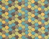 Chiffon Loft Lime Green Hexagons Fabric by Free Spirit Fabrics Design Loft - 1 yard