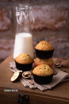 Бананови мъфини с орехи ♥ Banana and walnut muffins