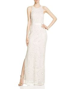 Laundry by Shelli Segal Embellished Cutout Back Gown - Bloomingdale's Exclusive | Bloomingdale's