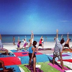 Perfect place for #Yoga.. A sunny beach
