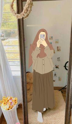 Islamic Wallpaper, Galaxy Wallpaper, Girl Cartoon, Cartoon Art, Hijab Drawing, Islamic Cartoon, Anime Muslim, Hijab Cartoon, Islamic Girl