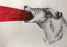 "R. Casthavian on Instagram: ""Day 5. A demon dog or something. . #art #inktober #inktober2018 #ink #pencils #drawing #sketch #blood #demon #gore #halloween #goretober…"" Demon Dog, Inktober, Moose Art, Blood, Sketch, Halloween, Drawings, Day, Animals"