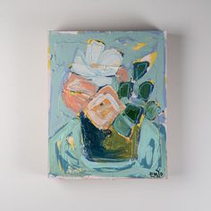 Emily+Ozier+Still+Life+in+Blues+III+Painting+-+Exotic+and+bold,+EMYO's+work+in+florals+makes+a+statement+in+any+home.+An+ideal+choice+for+welcoming+in+a+pop+of+eye-catching+color,+her+modern+take+on+traditional+botanicals+is+an+edgy,+beautiful+choice+for+every+space.+ 20H+x+16W+x+3D Sturdy+construction.+Frame+made+out+of+wood Learn+more+about+the+art+and+life+of+Emily+Ozier+on+our+blog Not+your+style?+Much+of+our+canvas+art+is+purchased+immediately+by+customers+and+designers+on+our+maili...