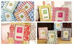 hand painted picture frames #picture_frames #frames #twos_company #handpainted #zig_zag