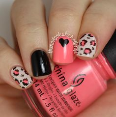 the nail polish challenge: Leopard Print Nail Art Inspired by Very Emily