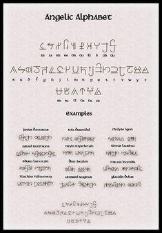 Angelic Alphabet by Raiyze.deviantart.com on @DeviantArt