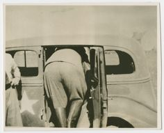 Hermann Goering squeezes into an automobile following his arrest. -  United States Holocaust Memorial Museum Goering got bigger and bigger as the war went on and he continued to live high on others stolen wealth and food. He had a particular fondness for stolen art collections.   World War Two