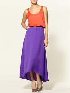 I'm so into color blocking right now and I am on the hunt for a new maxidress.  So perfect when its hot.