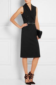 Michael Kors|Wool-blend crepe dress|NET-A-PORTER.COM, $1650, 98/8/2 wool poly spandex