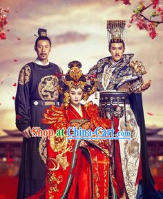 Chinese emperor & empress costumes