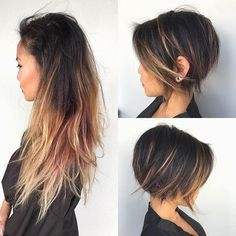 Here, we love hair! If you are a beauty artist send us a message for a free feature! Pretty Hairstyles, Bob Hairstyles, Pinterest Hairstyles, Ladies Hairstyles, Medium Hair Styles, Short Hair Styles, Haircut And Color, Hair Images, Love Hair