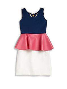 Zoe Girl's Techno Pleather Peplum Dress Review