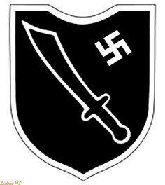 Symbol of 13th Waffen Mountain Division of the Musclim SS Handschar, in the times of the Third Reich.