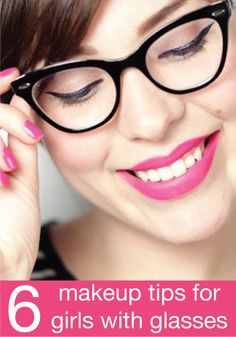 6 makeup tips for girls with glasses