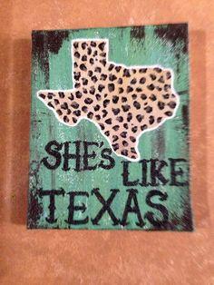 She's like Texas, custom order on Etsy, $25.00