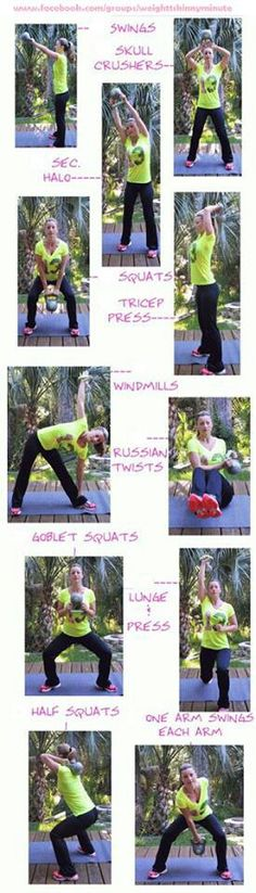 Kettlebell workout- pictures only