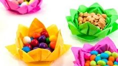 Paper Napkin Flowers, via YouTube.
