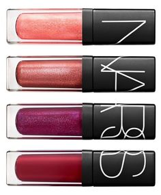 NARS lip glosses = favorite in the beauty bag.