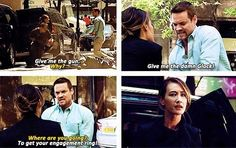 "Michael: ""Nikita..."" Nikita: ""You had me at, 'Give me the damn glock'."""