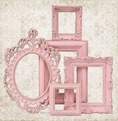 Lovely Shabby Chic Picture Frame Pastel Pink Picture Frame Set Ornate Frames Wedding Nursery Shabby Chic Home Decor via Etsy The post Shabby Chic Picture Frame Pastel Pin ..