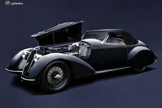 The Car: Alfa Romeo 8C 2900B Lungo Touring Spyder, #412027, 1938 🚗 12cylinders