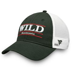 44469705fad Men s Minnesota Wild Fanatics Branded Green Trucker Team Color Adjustable  Hat