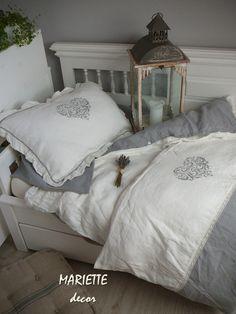 NOVÉ ...lněné povlečení VALENTINE (140x200, 70x50cm) / Zboží prodejce Mariette   Fler.cz Rose Pale, Provence, Bed Pillows, Pillow Cases, Valentino, Furniture, Home Decor, Decoration, Pillows