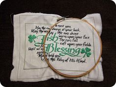 Irish blessing embroidery.