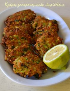 Cooking Recipes, Healthy Recipes, Greek Recipes, Tandoori Chicken, Starters, Healthy Choices, Zucchini, Appetizers, Vegetables
