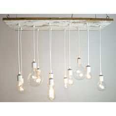 Texas Barnwood Chandelier | Edison Bulb, Industrial Lighting | UncommonGoods
