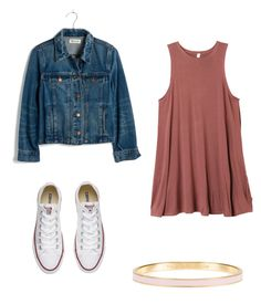 """""""Fall days☀️"""" by morganmaccc on Polyvore featuring RVCA, Madewell, Converse and Kate Spade"""