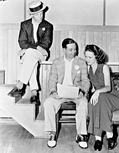 Fred Astaire with Cole Porter and Eleanor Powell...