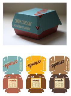 Brownie cupcake More Brownie Packaging, Cupcake Packaging, Bread Packaging, Box Packaging, Packaging Design, Cookies Branding, Bakery Branding, Bakery Packaging, Paper Structure