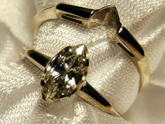 Vintage Estate Marquise Diamond Ring Wedding by neyneystreasures, $1750.00