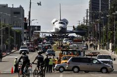 Shuttle for a walk in Los Angeles (Reuters)