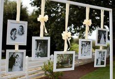 detalles de fotos antiguas en tu boda