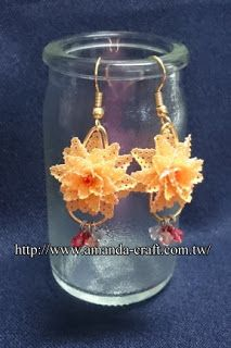 lovely bags in parchment craft: Parchment Craft Earrings