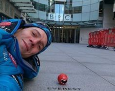 Dan Hughes conducts the FIRST EVER live broadcast from the summit of Mount Everest as he dons an iconic Comic Relief Red Nose (another first), he's on a mission for the charity to help relieve child poverty Child Poverty, Red Nose, Fundraising, Mount Everest, Charity, Dan, Comic, Live, Comic Strips