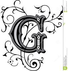 The Letter G in Black Times New Roman Serif Font Typeface