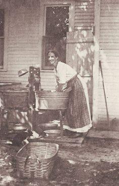Wash day Summer 1928 Kanawha County WV.
