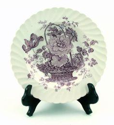 Charlotte-Lavender-Royal-Staffordshire-China-England-Rim-Soup-Bowl-8 #CharlotteLavender #RoyalStaffordshire #BoyntonBoys