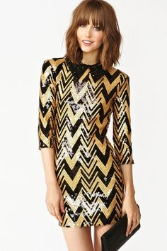 Zig Zag Sequin Dress